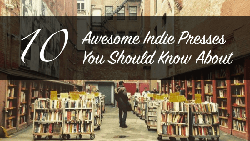 This blog post is about ten awesome indie presses you should know about. The photograph is from Brattle Bookstore in Boston, Massachusetts.