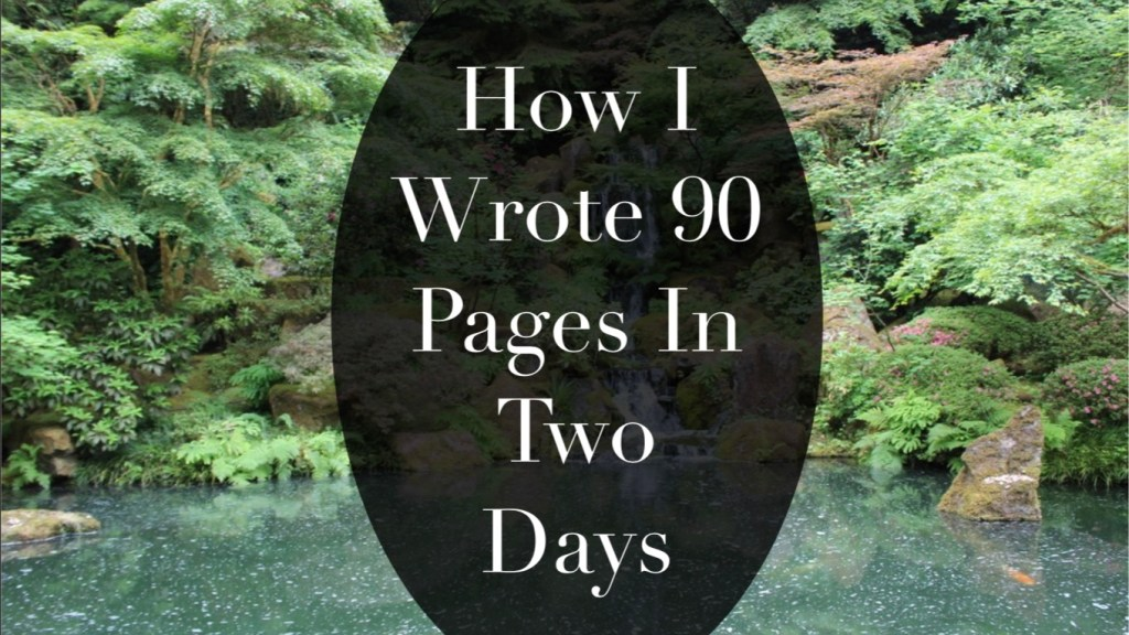 This is Independent Book Review's Featured Image for the blog post HOw I Wrote 90 Pages in Two Days by Alexander Smith
