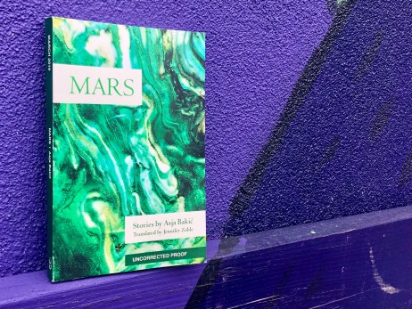 An original picture from Independent Book Review of MArs by Asja Bakic and Feminist Press