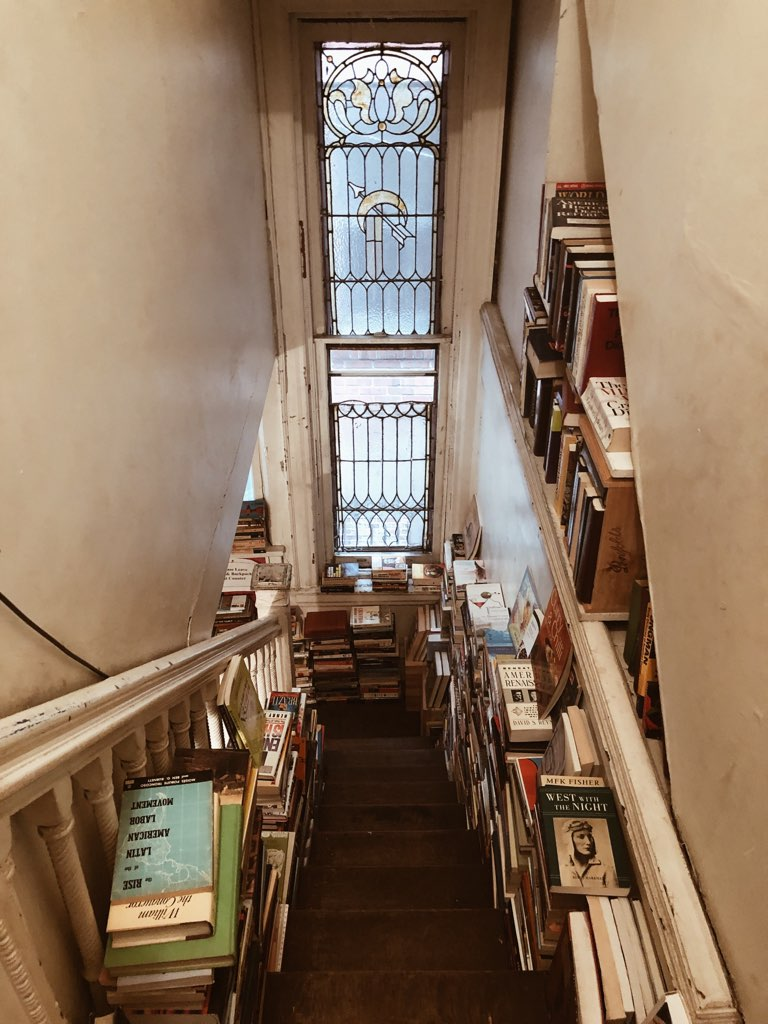 This is an original photograph of the inside of House of Our Own, taken by Jaylynn Korrell for her blog post on Independent Book Review, 7 Amazing Bookstores in Philadelphia.