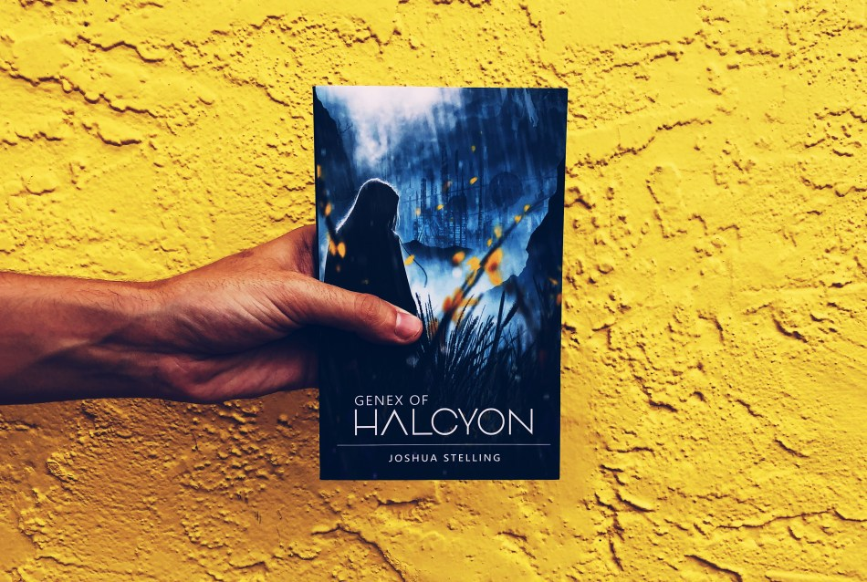 This is an Independent Book Review original photo for the paperback copy of Genex of Halcyon by Joshua Stelling.