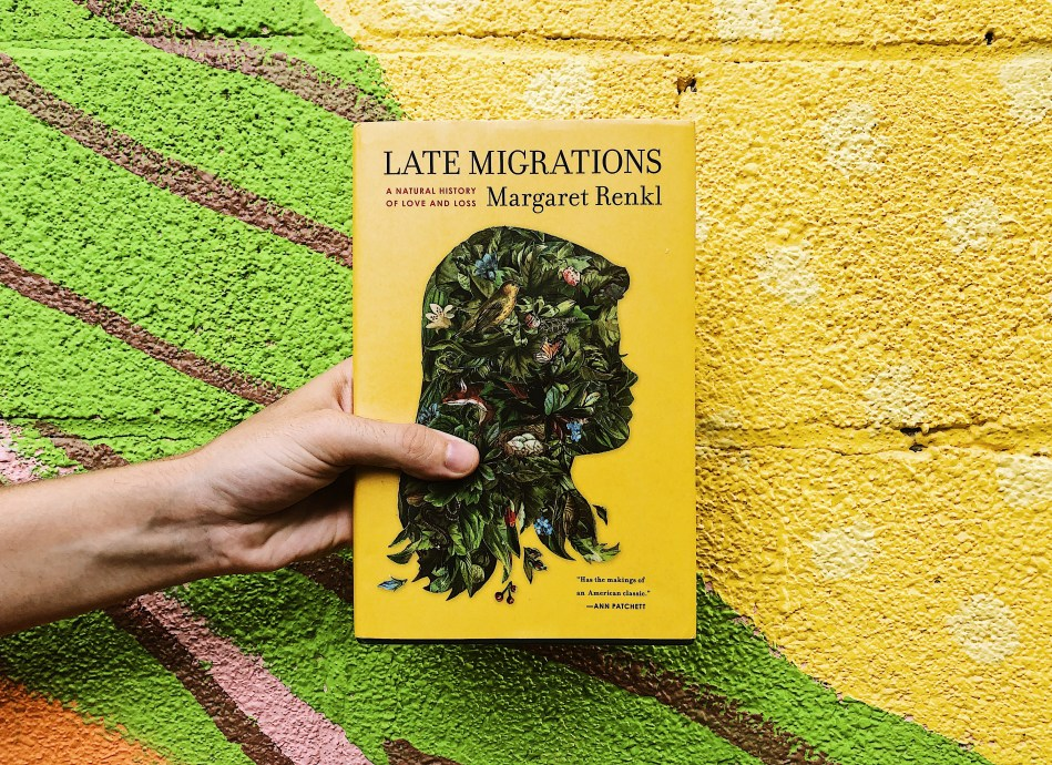 This is an Independent Book Review original photograph of the hardcover book Late Migrations: A Natural History of Loss and Loss by Margaret Renkl.