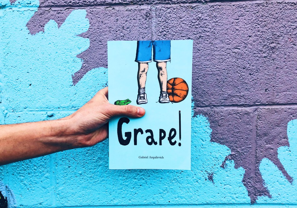 This is the paperback photo of Gabriel Arquilevich's middle grade novel Grape!