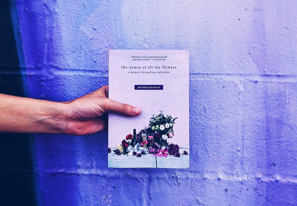 This is a paperback photograph of the names of all the flowers by melissa valentine, from independent book review