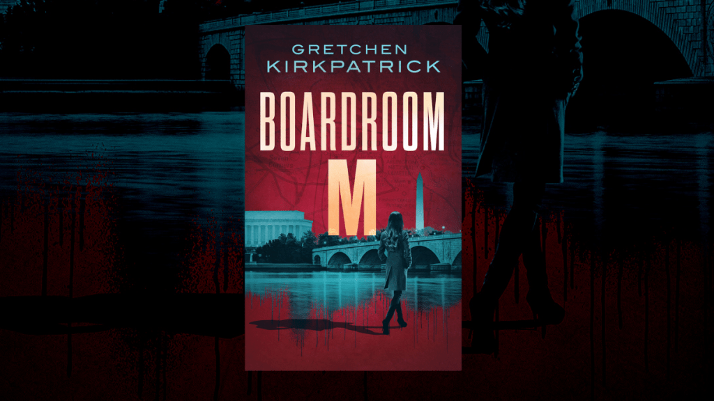This is the featured photo for our book review of Boardroom M by Gretchen Kirkpatrick