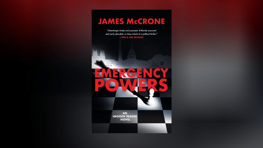This is the featured photo for IBR review of Emergency Powers by James McCrone