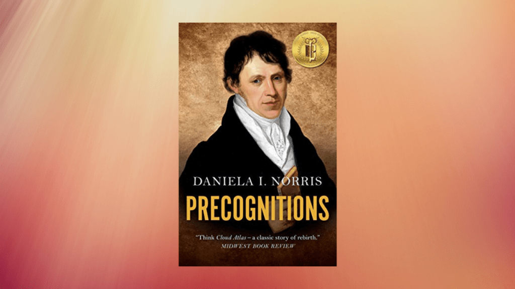 Featured image for our book review of Precognitions by Daniela Norris