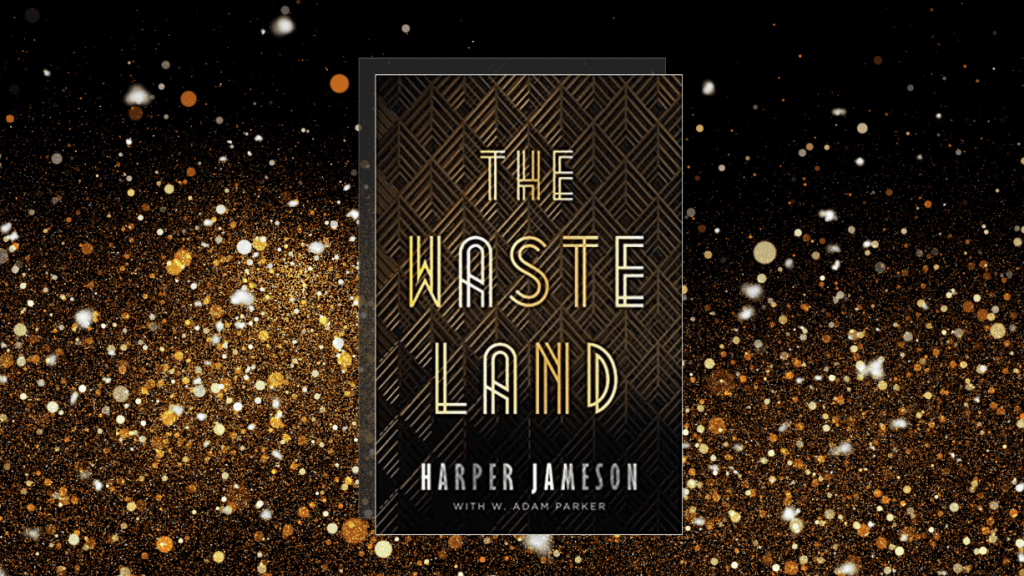 The featured image of our book review of The Wasteland by Harper Jameson