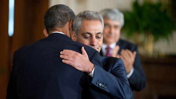 Rahm Embraces Barack