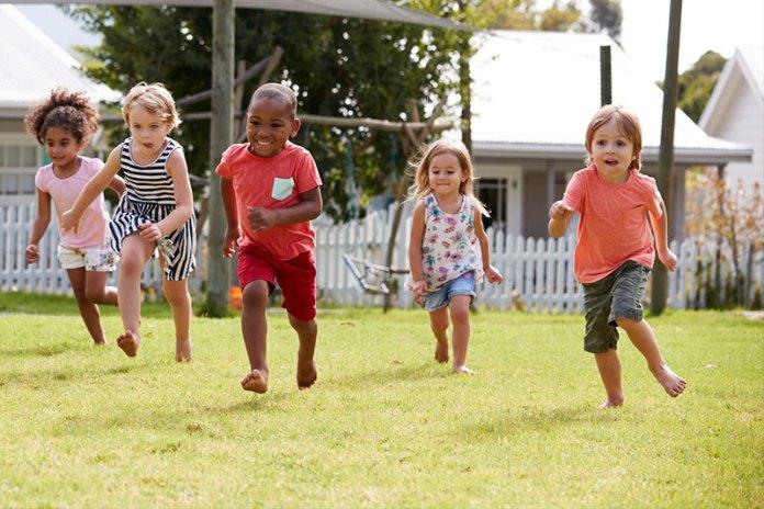 Running Kindergarteners