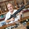 Happy Gun Store Owner