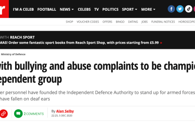 Sunday Mirror Recognition for the Independent Defence Authority