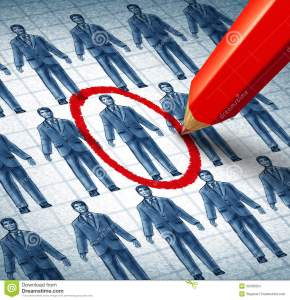 http://www.dreamstime.com/stock-images-career-job-searching-hiring-right-candidate-as-employment-concept-drawings-businessmen-network-image32430954