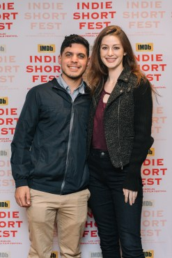 """Cast and crew of """"Abroad"""" at the Indie Short Fest Hollywood screening"""