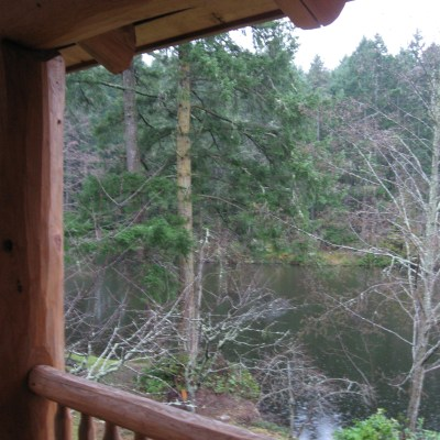 A view from the lodge at Lakedale