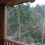 View from the lodge at Lakedale