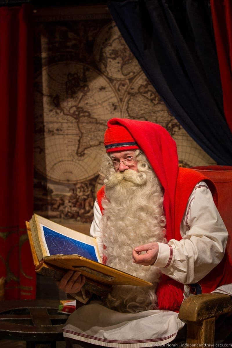 visiting Finland in winter Santa Claus
