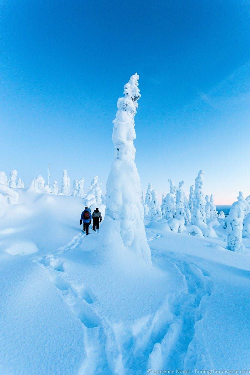 snowshoeing visiting Finland in Winter