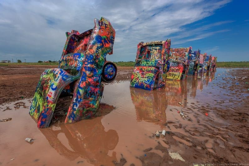 Cadillac Ranch Texas Route 66 road trip