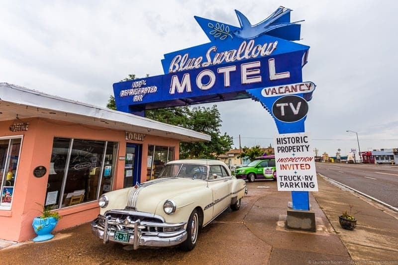 Blue Swallow Motel Route 66 road trip