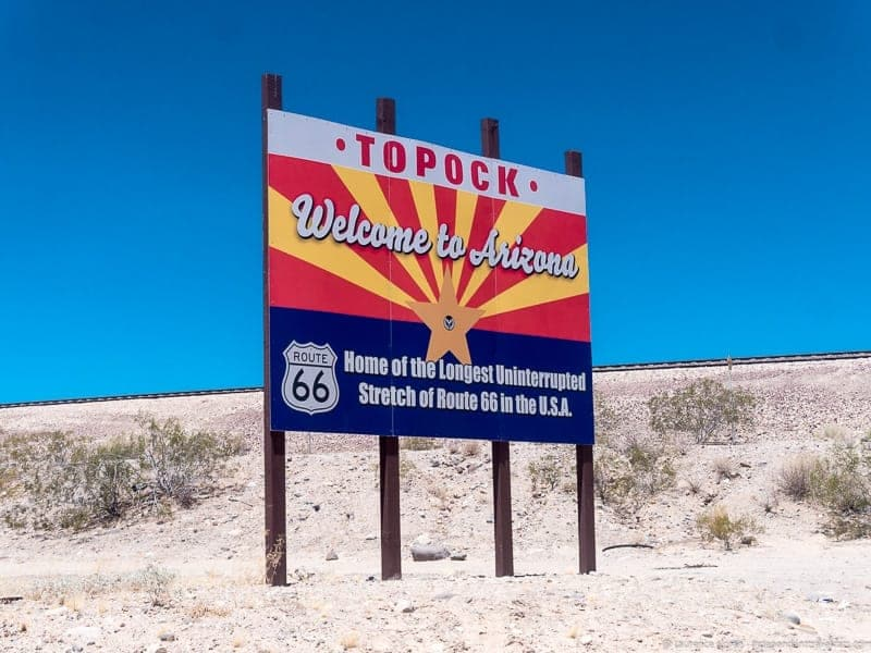 Topock Arizona Route 66 road trip