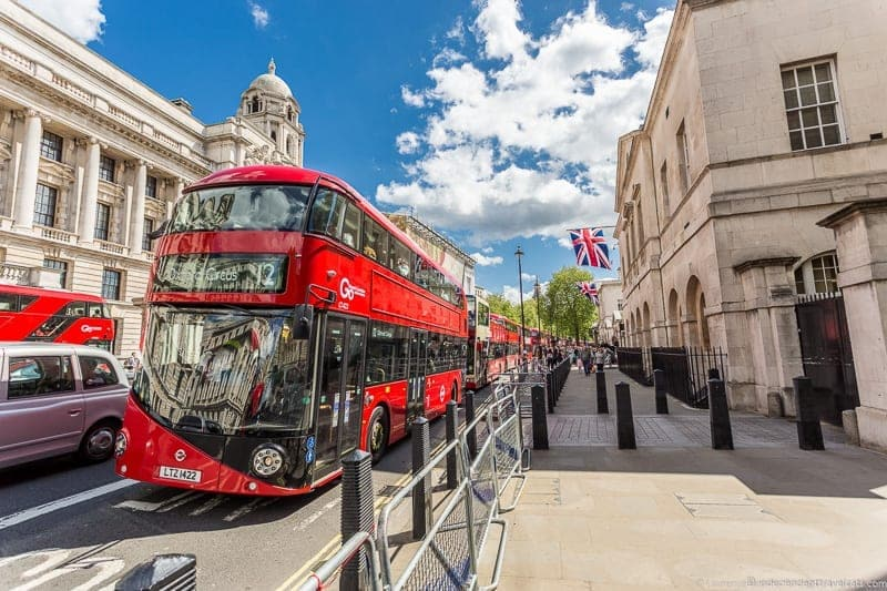 red bus oyster card London public transportation