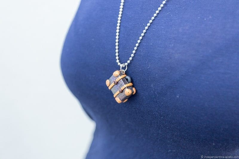 vintage luggage necklace travel jewelry traveling inspried jewellery