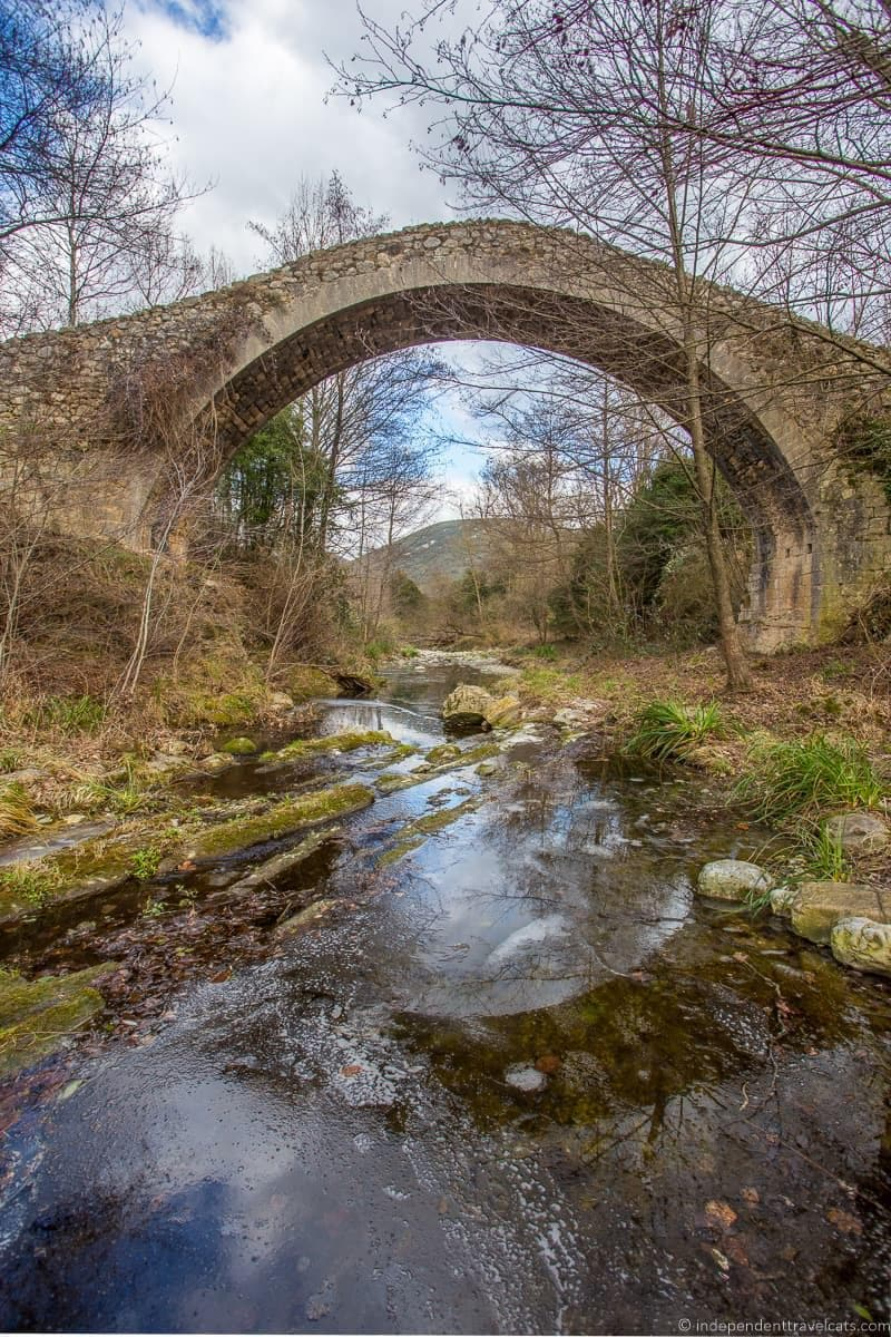Romanesque bridge things to do in the Spanish Pyrenees in Catalonia Spain