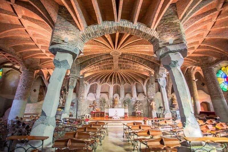 Colònia Güell guide to Gaudí sites in Barcelona Spain