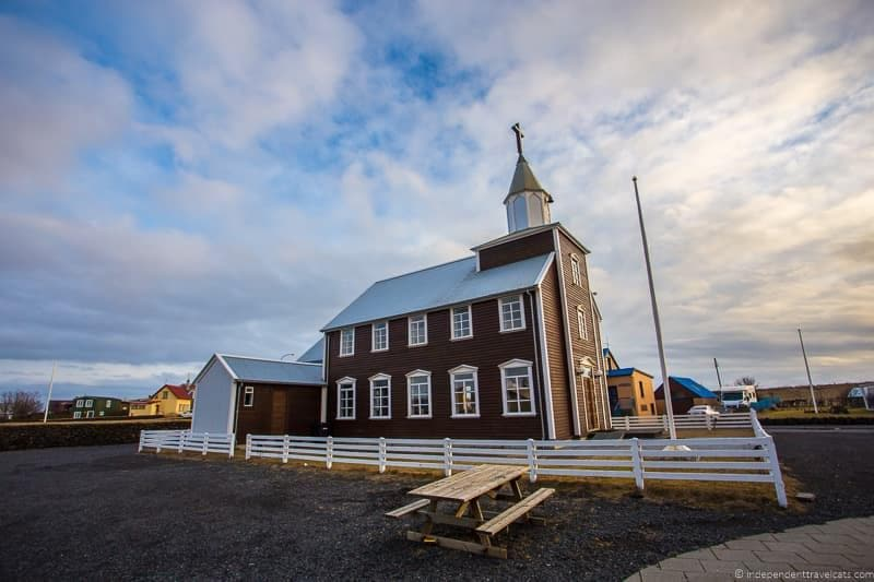 Eyrarbakki church 7 day Iceland itinerary by car one week road trip