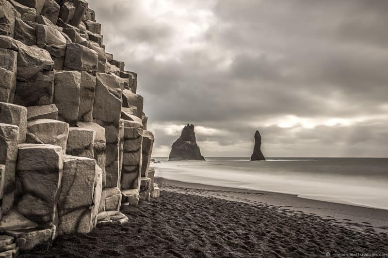 Reynishverfi black sand beach 7 day Iceland itinerary by car one week road trip
