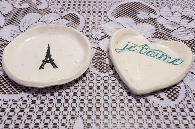 Paris trinket dishes Travel Home Decor Handmade Travel Themed Home Decorations