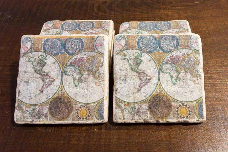 Travel home decor handmade travel themed home decorations world map coasters travel home decor handmade travel themed home decorations gumiabroncs Gallery