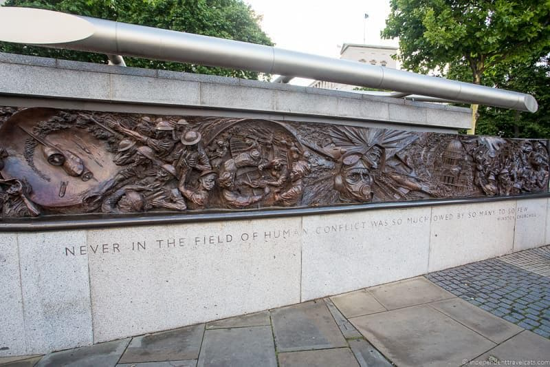 Battle of Britain Monument London - top Winston Churchill sites in England