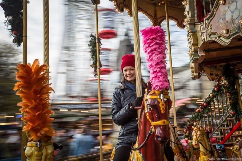 carousel Christmas in Edinburgh Scotland December
