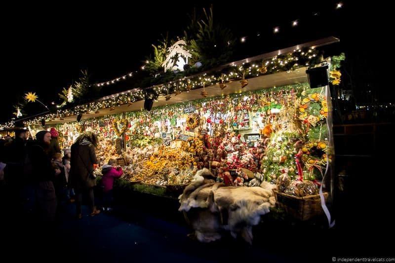 Christmas market Christmas in Edinburgh Scotland December