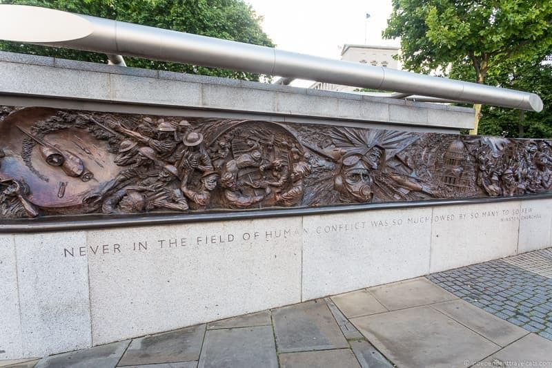 Battle of Britain memorial Winston Churchill in London sites attractions England UK