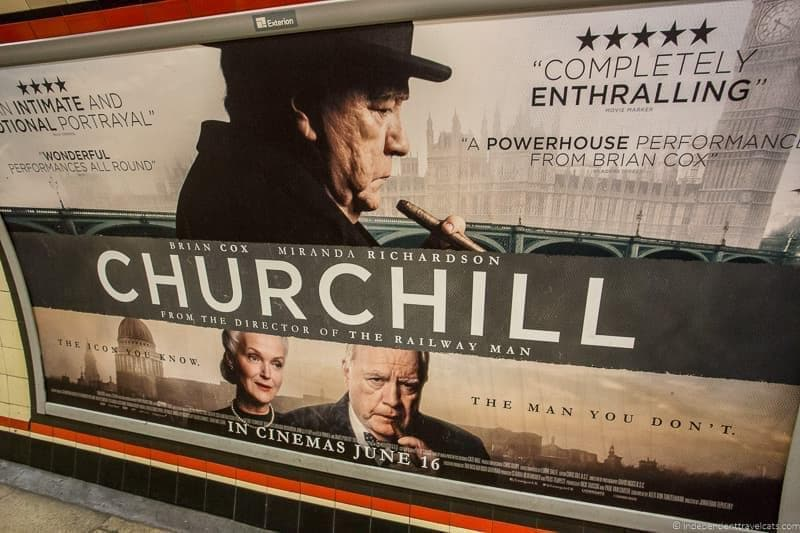 film poster Winston Churchill in London sites attractions England UK
