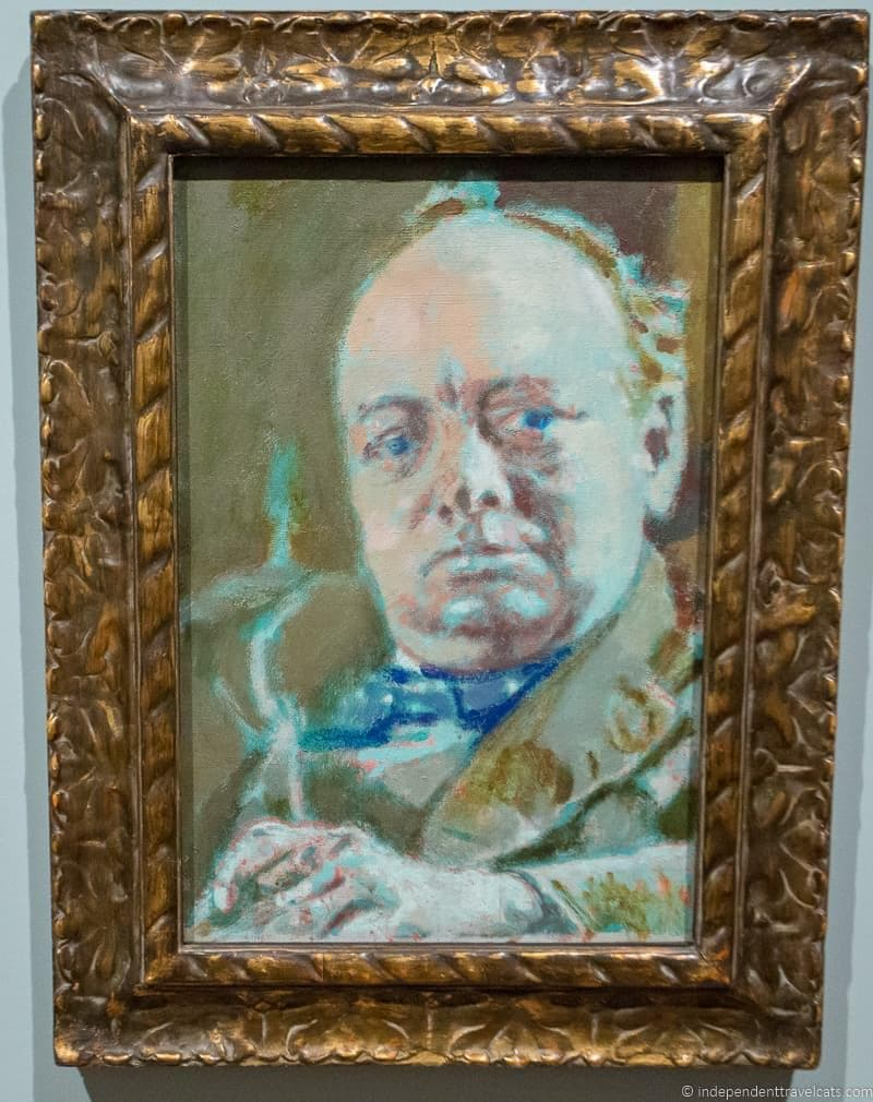 Winston Churchill in London sites attractions England UK