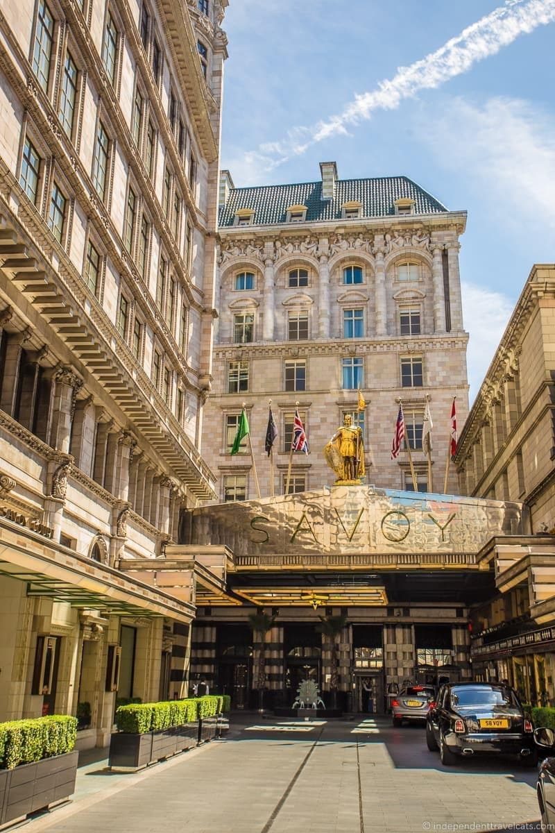 The Savoy hotel Winston Churchill in London sites attractions England UK