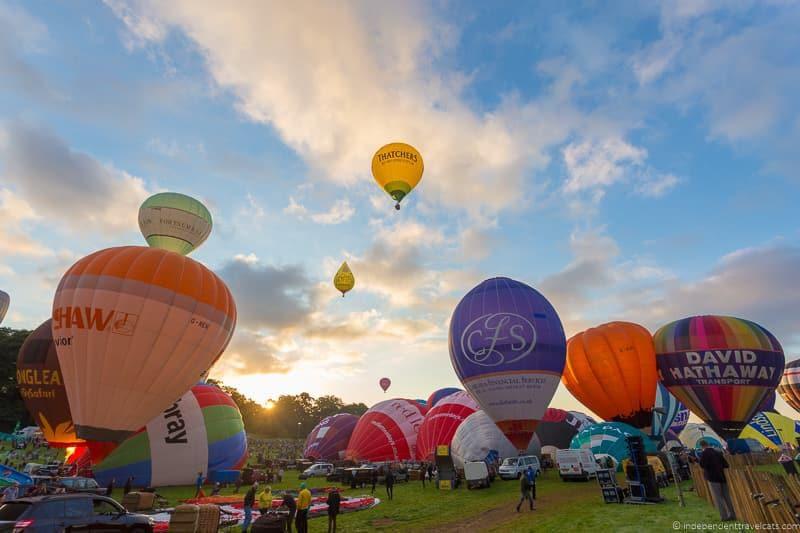 hot air balloons Bristol Balloon Fiesta England UK