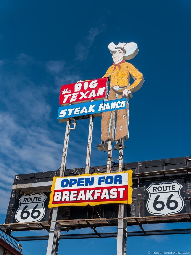 Big Texan Steak Ranch Texas 14 day Route 66 itinerary detailed guide