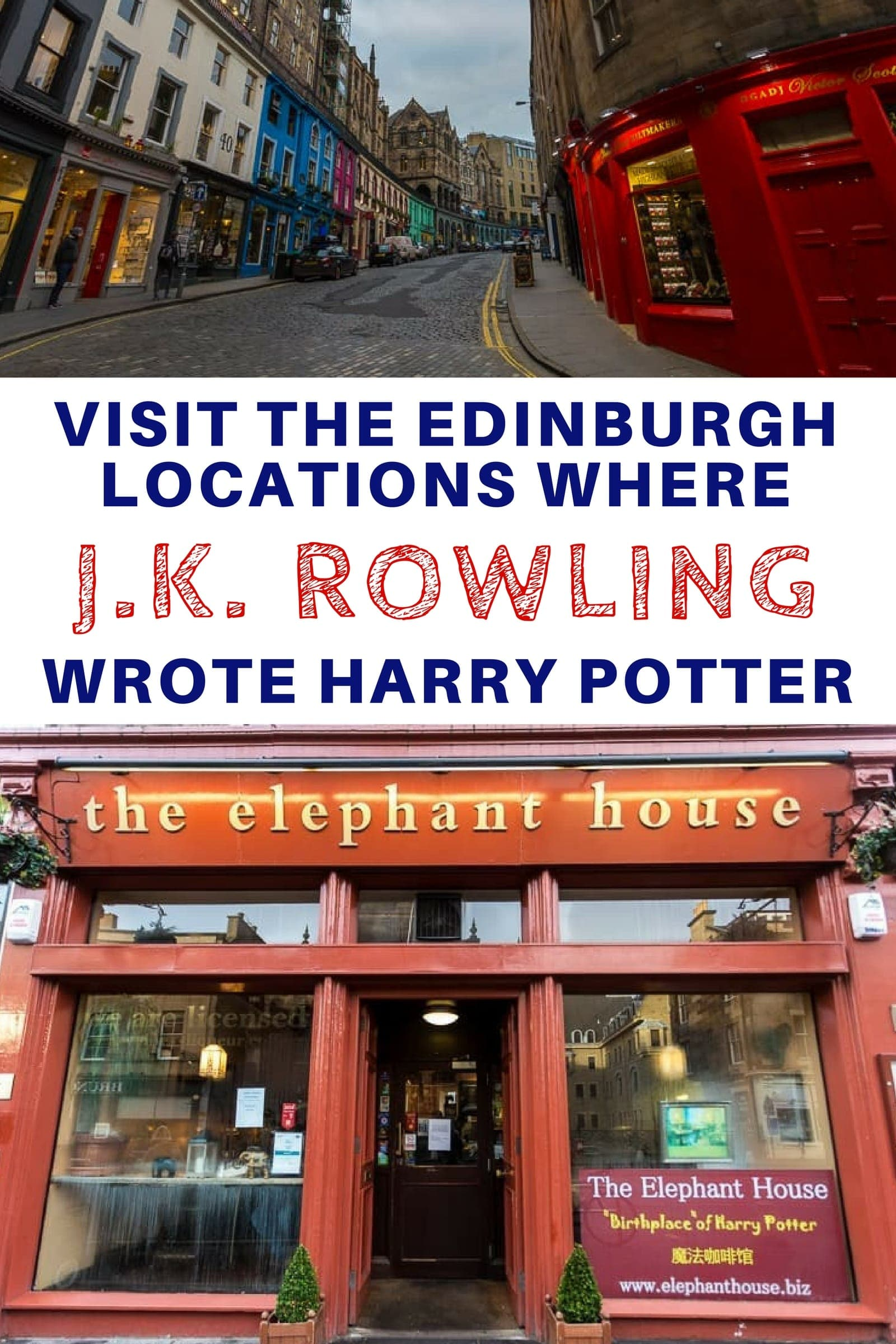 Visit the places where J.K. Rowling wrote the Harry Potter books in Edinburgh Scotland. If you are a Harry Potter fan visiting Edinburgh, you might want to make a pilgrimage to these places which include cafes and a hotel. #HarryPotter #HarryPotterinEdinburgh #Edinburgh #JKRowling #Edinburghtravel