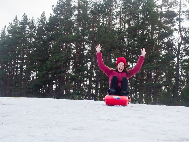 sledding things to do in the Cairngorms National Park in winter