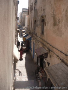 Independent travel help, Essaouira, Morocco, street, houses