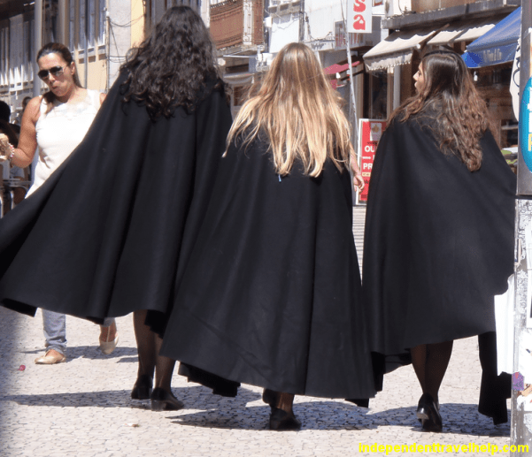 Porto, Portugal, cloaks, girls