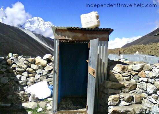 clean, shower, everest base camp, trek, nepal