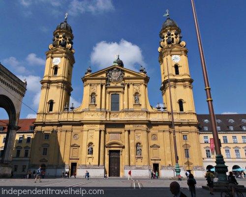 Big, Yellow Church in Munich