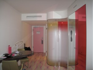 Das Zimmer ist rosa