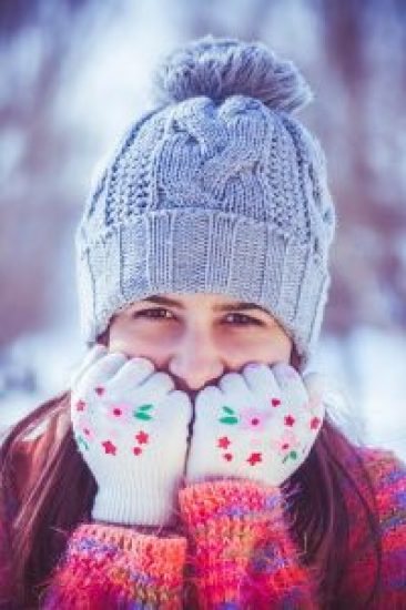 winter clothed girl